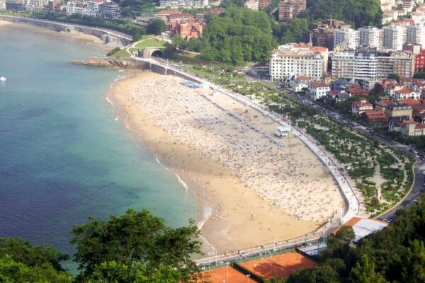 Playa ondarreta Pensión Kaixo Hostel Donosti San Sebastian